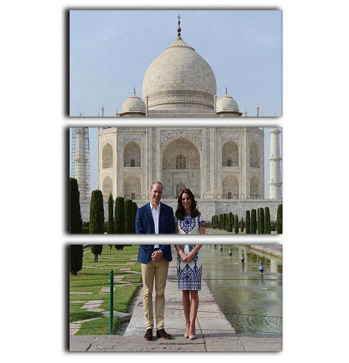 Prince William and Kate at the Taj Mahal India 3 Split Panel Canvas Print