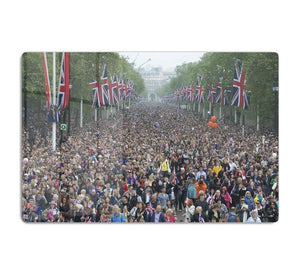 Prince William and Kate crowds for their wedding on The Mall HD Metal Print