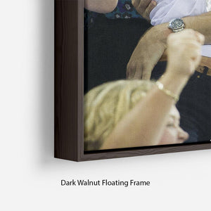 Prince William and Kate hugging at the 2012 Olympics Floating Frame Canvas