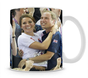 Prince William and Kate hugging at the 2012 Olympics Mug - Canvas Art Rocks - 1
