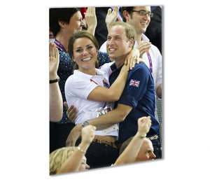 Prince William and Kate hugging at the 2012 Olympics Outdoor Metal Print - Canvas Art Rocks - 1