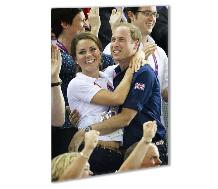 Prince William and Kate hugging at the 2012 Olympics Outdoor Metal Print