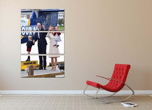 Prince William and Kate with George and Charlotte in Canada 3 Split Panel Canvas Print - Canvas Art Rocks - 2