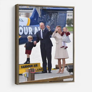 Prince William and Kate with George and Charlotte in Canada HD Metal Print