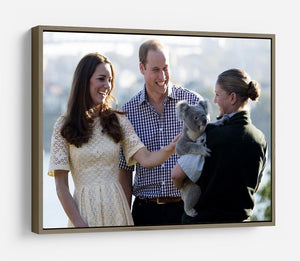 Prince William and Kate with a koala bear in Sydney Australia HD Metal Print