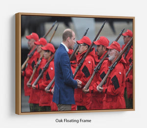 Prince William greeted by Canadian Rangers on Canadian tour Floating Frame Canvas