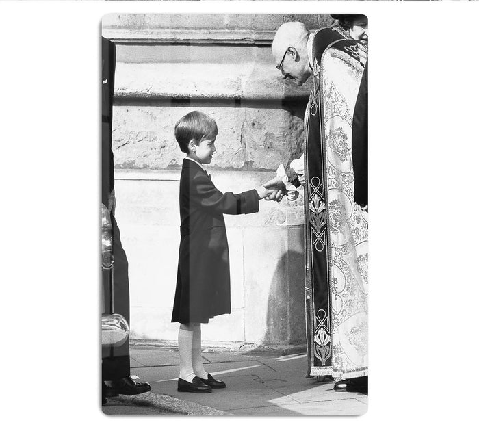Prince William greeting the Dean of St Georges Chapel HD Metal Print