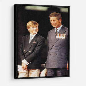 Prince William with Prince Charles at a VJ Parade HD Metal Print