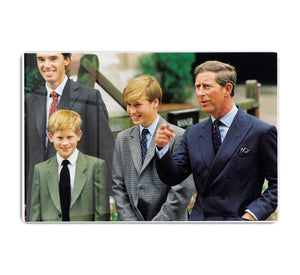 Prince Williams first day at Eton with Prince Charles HD Metal Print