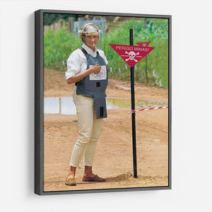 Princes Diana at a mine field in Angola for a Red Cross visit HD Metal Print
