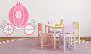 Princess Carriage Wall Sticker - Canvas Art Rocks - 1