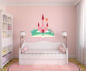 Princess Castle Wall Sticker - Canvas Art Rocks - 1