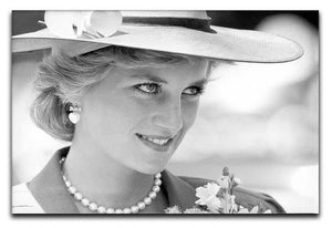 Princess Diana arrives at church in Melbourne Australia Canvas Print or Poster  - Canvas Art Rocks - 1