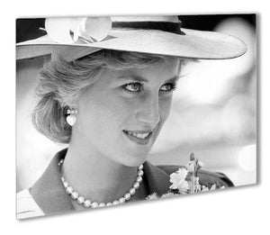Princess Diana arrives at church in Melbourne Australia Outdoor Metal Print - Canvas Art Rocks - 1