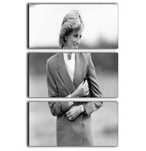 Princess Diana in Bedfordshire visiting disabled children 3 Split Panel Canvas Print - Canvas Art Rocks - 1