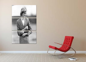 Princess Diana in Bedfordshire visiting disabled children 3 Split Panel Canvas Print - Canvas Art Rocks - 2