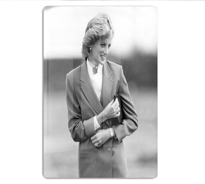 Princess Diana in Bedfordshire visiting disabled children HD Metal Print