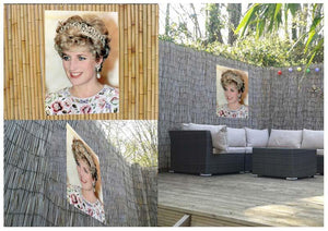 Princess Diana in a tiara at a dinner in Seoul South Korea Outdoor Metal Print - Canvas Art Rocks - 2
