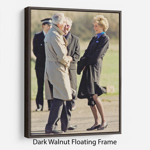 Princess Diana laughing Floating Frame Canvas