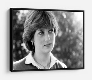 Princess Diana meeting the press for the first time HD Metal Print