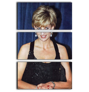 Princess Diana receiving the Humanitarian of the Year award 3 Split Panel Canvas Print - Canvas Art Rocks - 1