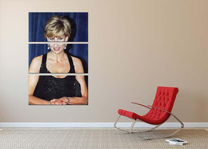 Princess Diana receiving the Humanitarian of the Year award 3 Split Panel Canvas Print - Canvas Art Rocks - 2