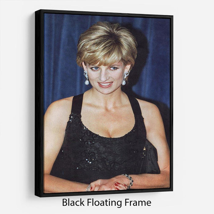 Princess Diana receiving the Humanitarian of the Year award Floating Frame Canvas
