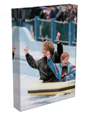 Princess Diana with Prince Harry on a water ride Canvas Print or Poster - Canvas Art Rocks - 3