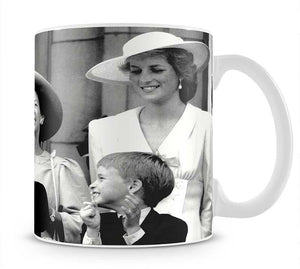 Princess Diana with Prince Harry watching Trooping the Colour Mug - Canvas Art Rocks - 1