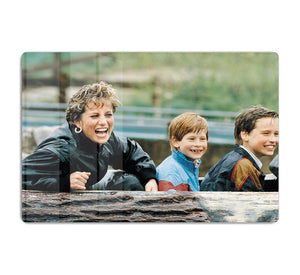 Princess Diana with Prince William and Prince Harry on ride HD Metal Print