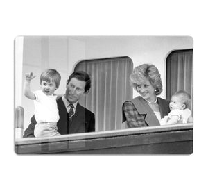 Princess Diana with family aboard the Royal Yacht Britannia HD Metal Print