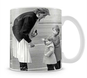 Princess Diana with little Prince Harry and Prince William Mug - Canvas Art Rocks - 1