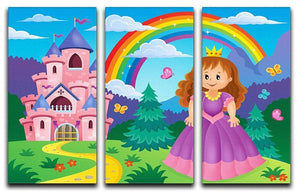 Princess theme image 2 3 Split Panel Canvas Print - Canvas Art Rocks - 1