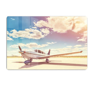 Propeller plane parked HD Metal Print