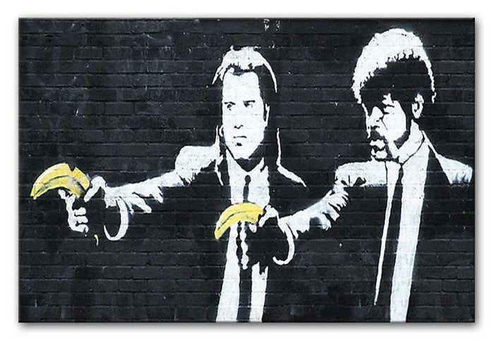 Banksy Pulp Fiction Banana Guns Canvas Print or Poster