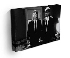 Pulp Fiction Black and White Print - Canvas Art Rocks - 3