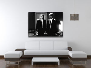 Pulp Fiction Black and White Print - Canvas Art Rocks - 4