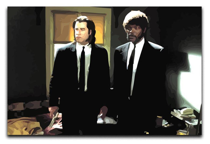 Pulp Fiction Coloured Canvas Print or Poster