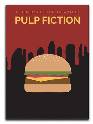 Pulp Fiction Burger Minimal Movie Canvas Print or Poster  - Canvas Art Rocks - 1