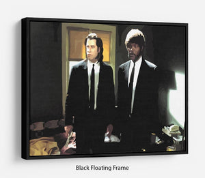 Pulp Fiction Coloured Floating Frame Canvas