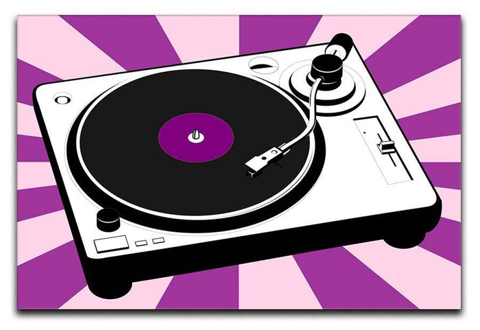 Purple Pop Art Turntable Canvas Print or Poster