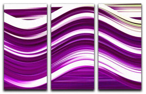 Purple Wave 3 Split Panel Canvas Print - Canvas Art Rocks - 1