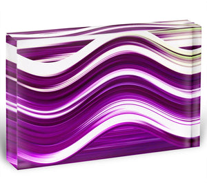 Purple Wave Acrylic Block - Canvas Art Rocks - 1