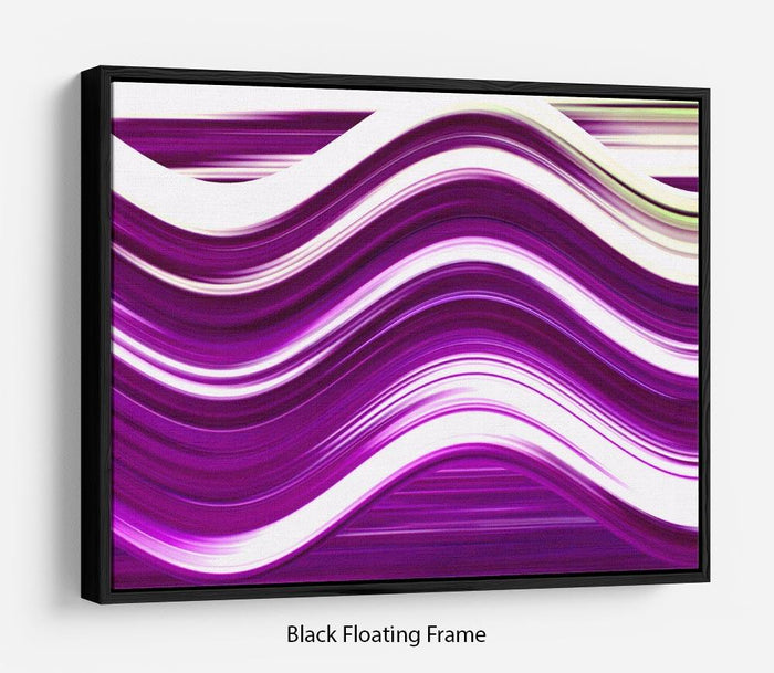 Purple Wave Floating Frame Canvas