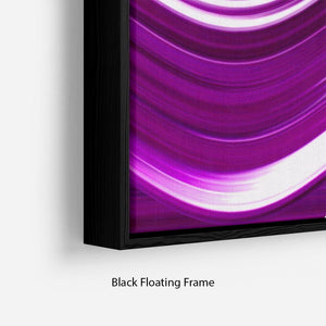 Purple Wave Floating Frame Canvas - Canvas Art Rocks - 2