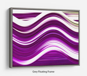 Purple Wave Floating Frame Canvas - Canvas Art Rocks - 3