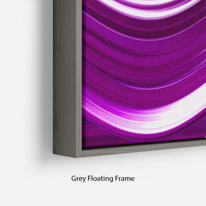 Purple Wave Floating Frame Canvas - Canvas Art Rocks - 4
