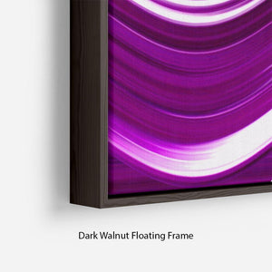 Purple Wave Floating Frame Canvas - Canvas Art Rocks - 6