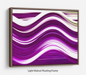 Purple Wave Floating Frame Canvas - Canvas Art Rocks 7