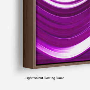 Purple Wave Floating Frame Canvas - Canvas Art Rocks - 8